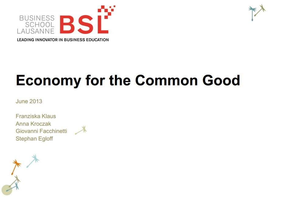 Bsl Runs A Common Good Matrix Report Business School Lausanne