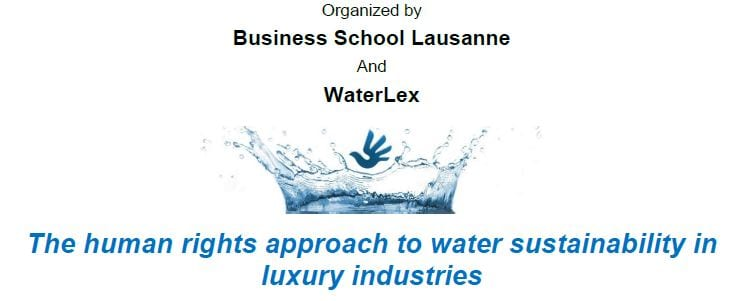 Bsl Hosts A Conference On Water Sustainability In The Luxury